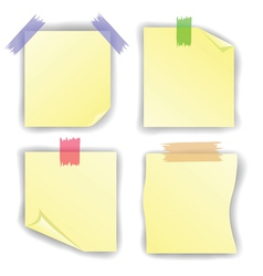 Yellow notice papers vector