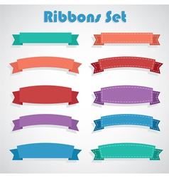 Ribbons set vector