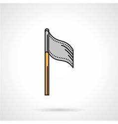 Flat icon for paintball team flag vector