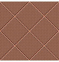 Weaved traditional wooden pattern vector