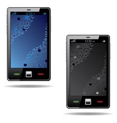 Touchscreen smart phone vector