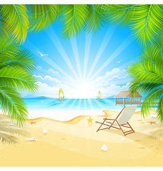 Relax on a tropical island vector