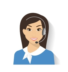 Female call centre operator vector