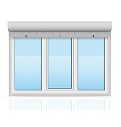 Plastic window behind metal perforated rolling vector