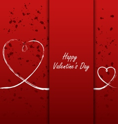 Valentines card with white hearts on abstract vector