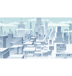 Cityscape winter vector