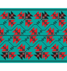 Set of ethnic floral geometric pattern ornament in vector
