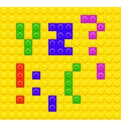 Lego blocks alphabet 5 vector