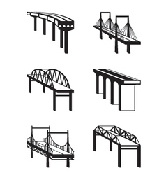 Various bridges in perspective vector