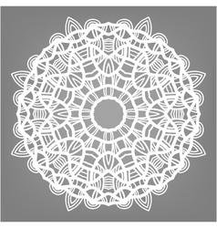 Christmas decorative lace ornament snowflake vector