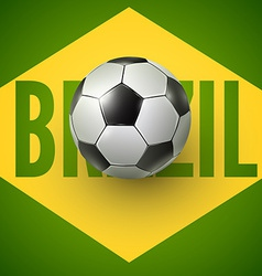 Soccer ball of brazil 2014 vector