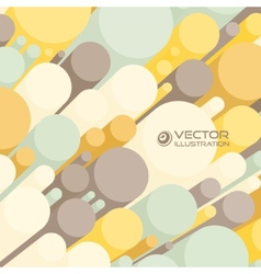 Abstract 3d background with colorful cylinders vector