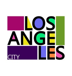 Los angeles city t-shirt typography graphics vector