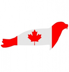 Canadian seal vector