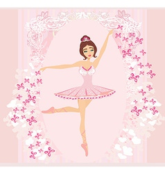 Beautiful ballerina - abstract card with vector