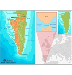 Gibraltar map vector