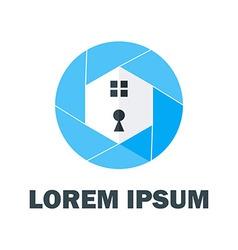 Blue home logo vector