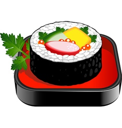 Sushi roll vector