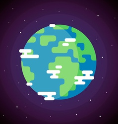 Planet earth icon flat vector