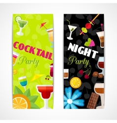 Cocktails banner vertical vector