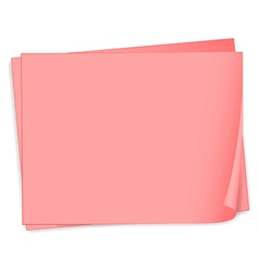Empty pink bondpapers vector