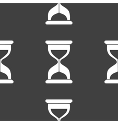 Sand clock glass timer web icon flat design vector