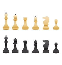 Black and white chess isolated vector