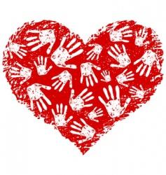 Heart print vector