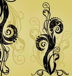 Curls and swirls vector