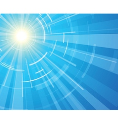 Sun on a blue sky vector