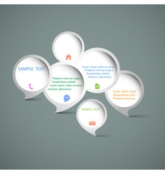 Web design speech bubbles vector