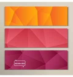 Set abstract bright picture pink red orange vector