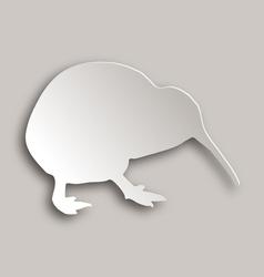 Kiwi on gray vector