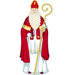 Christmas character sinterklaas cartoon vector