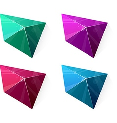 Clean vibrant pyramid vector