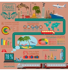 Travel vacations beach resort infographics vector