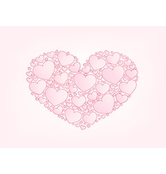 Valentine card hearts background vector