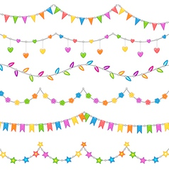 Party decoration white vector