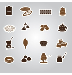 Chocolate stickers set eps10 vector