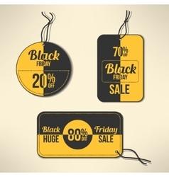 Black friday discount labels set vector