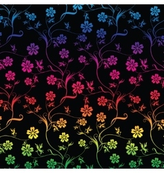 Seamless colorful floral vector