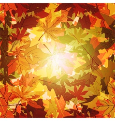 Abstract autumn leaf seamless background vector