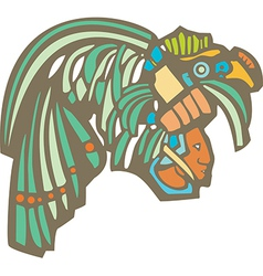 Mayan warrior head vector