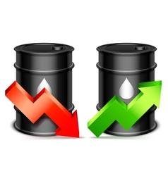 Oil price concept vector