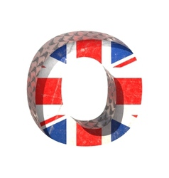Great britain cutted figure o paste to any vector