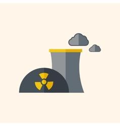 Nuclear flat icon vector