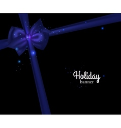 Elegant holiday banner with photorealistic blue vector