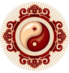 Oriental zen design element vector