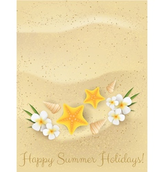 Sand summer background vector