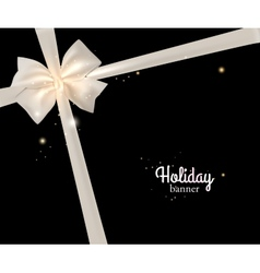 Elegant holiday banner with photorealistic white vector